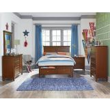 Standard Furniture Cooperstown Youth Panel Storage Bedroom Set in Sheen Spiced Cherry