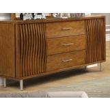 New Classic Furniture Bamboo Wave 3 Drawer Dresser in Natural B720-050