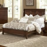 All-American French Market King Low Profile Sleigh Bed in French Cherry