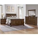 All-American Woodlands 4pc Sleigh Bedroom Set in Oak