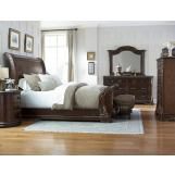 A.R.T Gables 4pc Sleigh Bedroom Set in Cherry