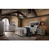 New Classic Furniture Venetia 4-Piece Wood Bedroom Set in Champagne