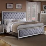 Crown Mark Cosette King Upholstered Panel Bed