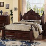 Crown Mark Charlotte King Bed in Dark Bold Brown