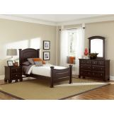 All-American Hamilton/Franklin Youth Panel Bedroom Set in Merlot