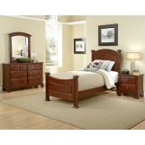All-American Hamilton/Franklin Youth Panel Bedroom Set in Cherry