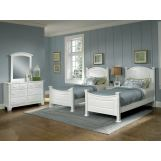 All-American Hamilton/Franklin Panel Bedroom Set B in Snow White