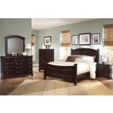 All-American Hamilton/Franklin Panel Bedroom Set B in Merlot