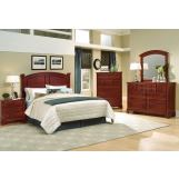 All-American Hamilton/Franklin Panel Bedroom Set C in Cherry
