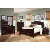 All-American Hamilton/Franklin Panel Bedroom Set D in Merlot