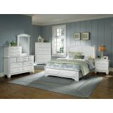 All-American Hamilton/Franklin Panel Storage Bedroom Set in Snow White