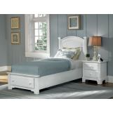 All-American Hamilton/Franklin Youth Panel Storage Bedroom Set in Snow White