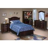 New Classic Victoria Youth Panel Bedroom Set in Espresso Finish