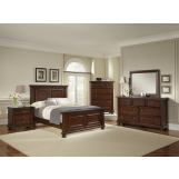 All-American Muse Mansion Bedroom Set in Dark Cherry