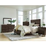 Kincaid Montreat Borders Panel Bedroom Set with Storage Footboard in Graphite