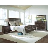 Kincaid Montreat Rake Sleigh Bedroom Set in Graphite