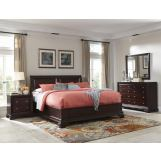 Cresent Fine Furniture Newport  4-Piece Sleigh Panel Bedroom Set in Espresso