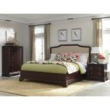Cresent Fine Furniture Newport  4-Piece Upholstered Bedroom Set in Espresso