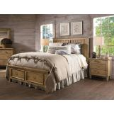 Kincaid Homecoming Solid Wood Panel with Storage Footboard Bedroom Set in Vintage Pine CODE:UNIV20 for 20% Off