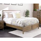 Furniture of America Berenice Queen Upholstered Platform Bed in Light Oak CM7580A-Q