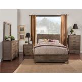 Alpine Furniture Sydney 4-Piece Panel Bedroom Set in Weathered Grey