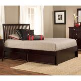 Hillsdale Metro Liza Queen Storage Platform Bed in Rich Espresso