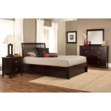 Hillsdale Metro Liza Storage Platform Bedroom Set in Rich Espresso