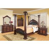 Coaster Grand Prado Poster Bedroom Set in Brown Cherry 202201