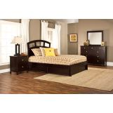 Hillsdale Metro Riva Storage Platform Bedroom Set in Rich Espresso