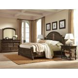 Hekman Homestead 4-Piece Panel Bedroom Set in Molasses