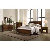 Aspenhome Walnut Park 4-Piece Sleigh Bedroom Set in Cinnamon Walnut