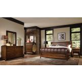 Aspenhome Walnut Park 4-Piece Panel Bedroom Set in Cinnamon Walnut