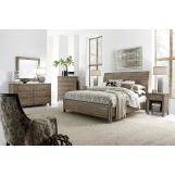 Aspenhome Tildon 4-Piece Sleigh Bedroom Set in Mink