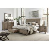 Aspenhome Tildon 4-Piece Sleigh Storage Bedroom Set in Mink