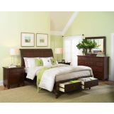 Aspenhome Cambridge Sleigh Storage Bedroom Set in Brown Cherry