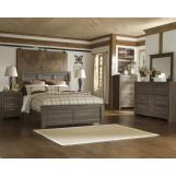 Juararo 4pc Panel Bedroom Set in Dark Brown