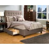 Seahawk Designs Manhattan Four-Drawer California King Bed in Charcoal Brown 61602