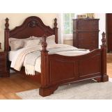 Meridian Manor King Poster Bed in Cherry