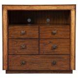 Alpine Furniture Jimbaran Bay TV Media Chest in Tobacco ORI-811-11