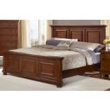 All-American Muse Eastern King Mansion Bed in Medium Cherry