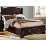 All-American Hamilton/Franklin Queen Panel Storage Bed in Merlot