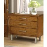 New Classic Furniture Bamboo Wave 3 Drawer Nightstand in Natural B720-040