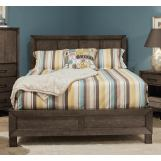 Durham Furniture Odyssey King Panel Bed in Truffle 186-144