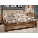 Durham Furniture Odyssey Queen Upholstered Bed in Desert Sand 186-135