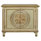 Pulaski ACH Ornate Medallion Hall Chest in Gold P017019