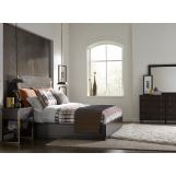 Rachael Ray Home Austin 4pc Panel with Brass Accent Bedroom Set in Barton