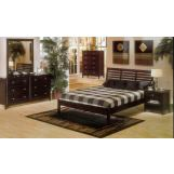 Alpine Furniture Portola 4-Piece Platform Bedroom Set in Dark Cherry