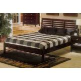 Alpine Furniture Portola Queen Platform Bed in Dark Cherry PB-11 QDC