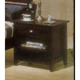 Alpine Furniture Portola Nightstand in Dark Cherry PB-02DCM