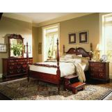 American Drew Cherry Grove Low Poster Bedroom Set in Cherry